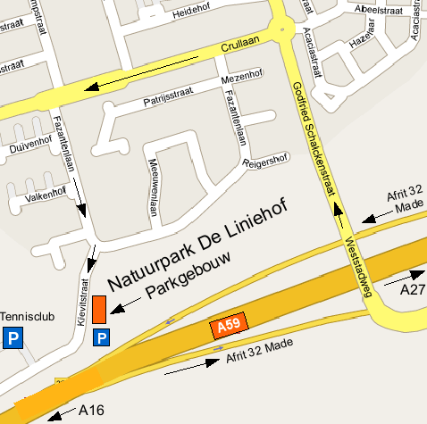 Routekaartje Natuurpark Liniehof