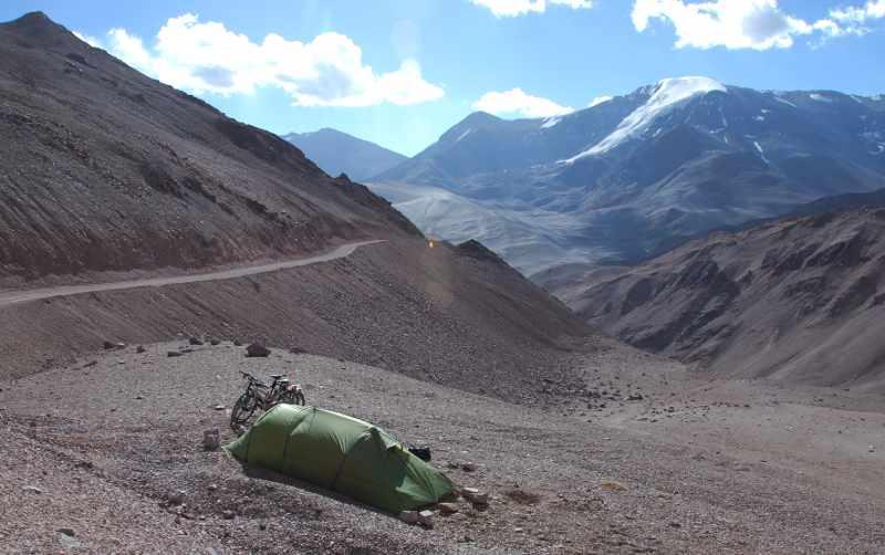 20091222_Fietstocht_Chili_Andesgebergte_Overnachting_4300m_Paso_de_Aqua_Negra